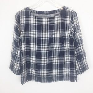 Madewell Women Size Small Shirt Plaid Black